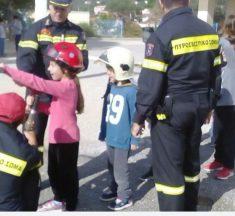 Ενημέρωση μαθητών στις Κροκεές από την Πυροσβεστική Υπηρεσία Γυθείου.