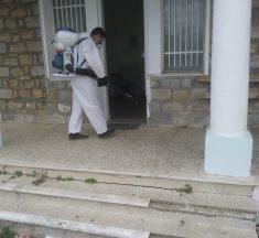 Ολοκληρώθηκε η απολύμανση στους δημόσιους χώρους και κεντρικούς δρόμους στο Δαφνί..