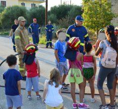 Μικροί πυροσβέστες εν δράσει στις Κροκεές (ΦΩΤΟ). Στο πρώτο πυροσβεστικό camp για παιδιά
